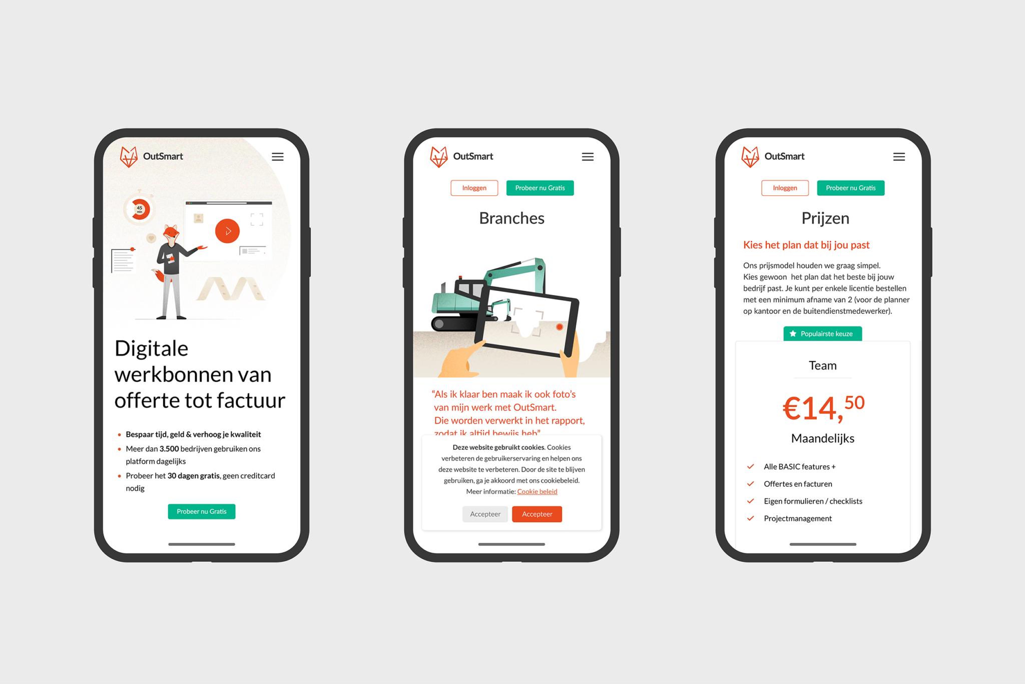 Outsmart smartphone website
