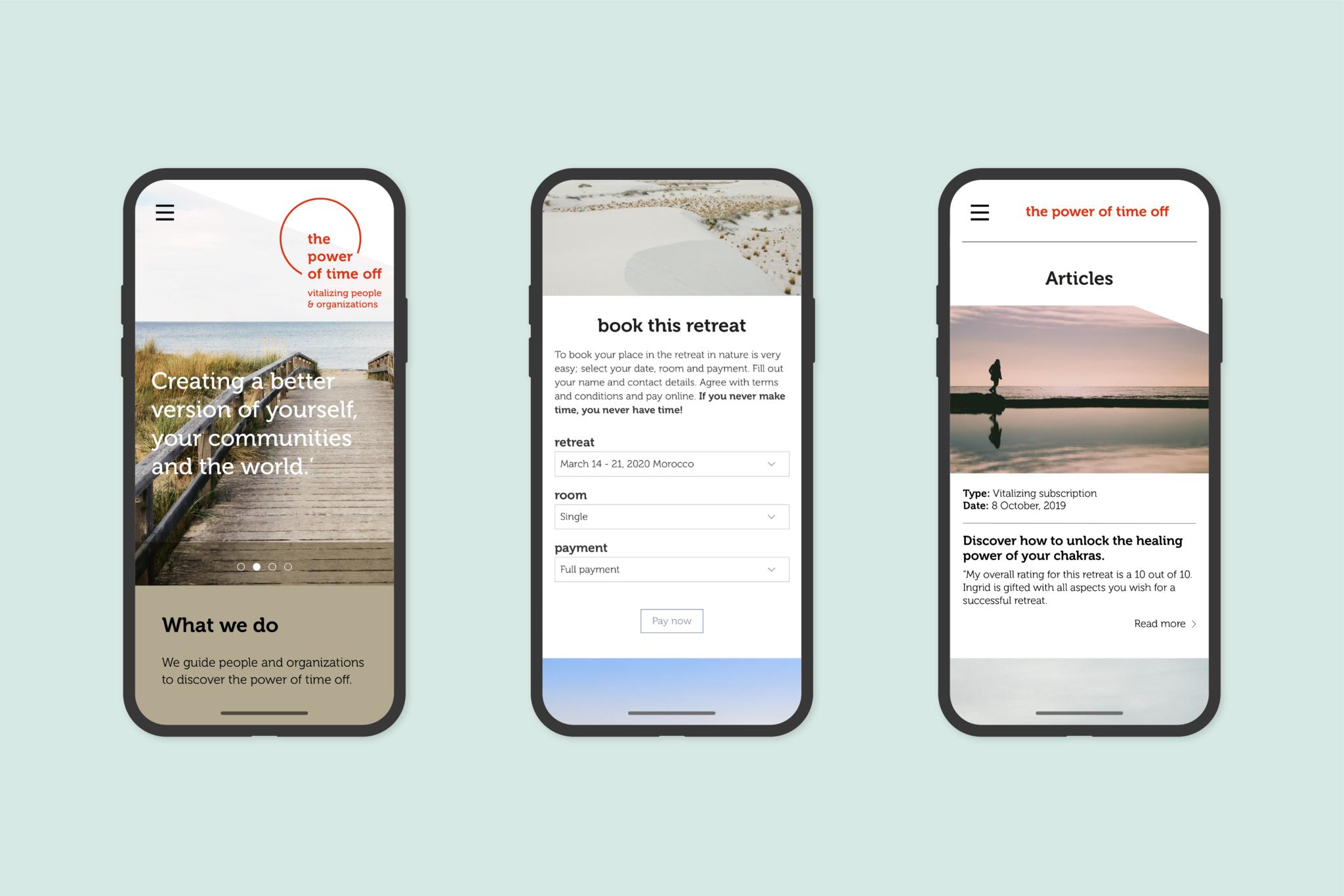 ThePowerOfTimeOff smartphone website