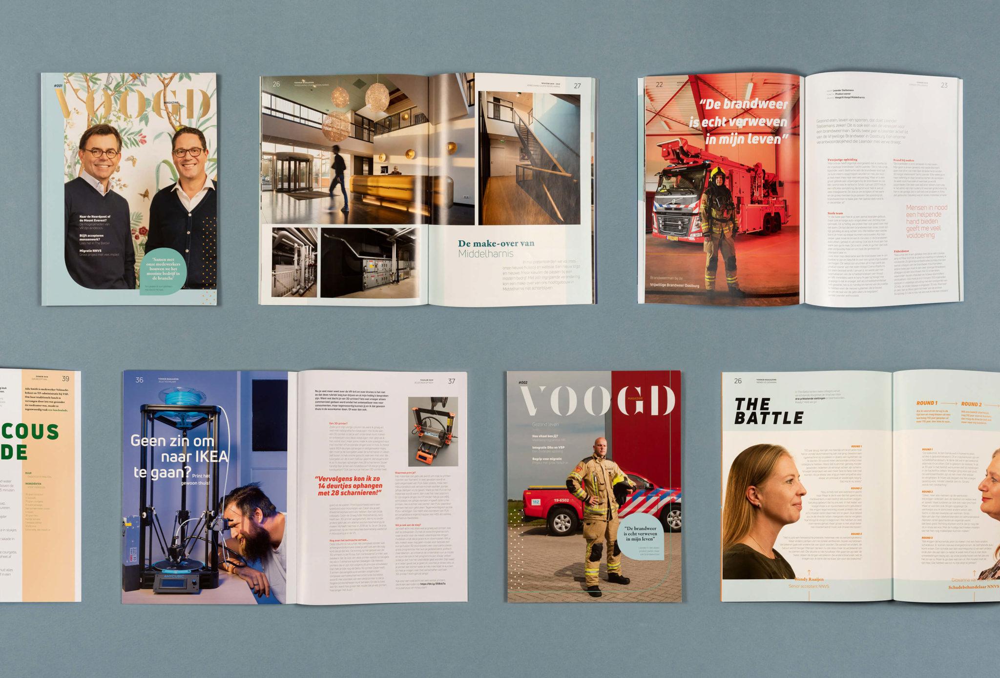Voogd magazine speads