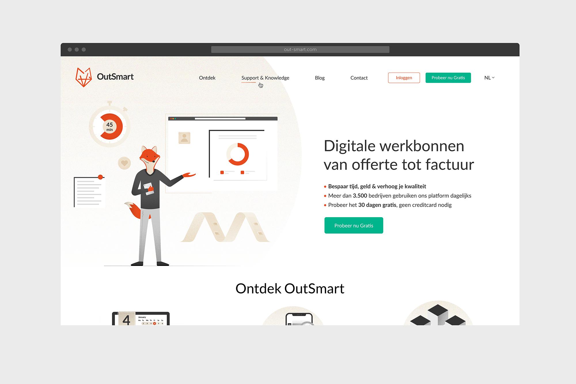 Outsmart website landingspage