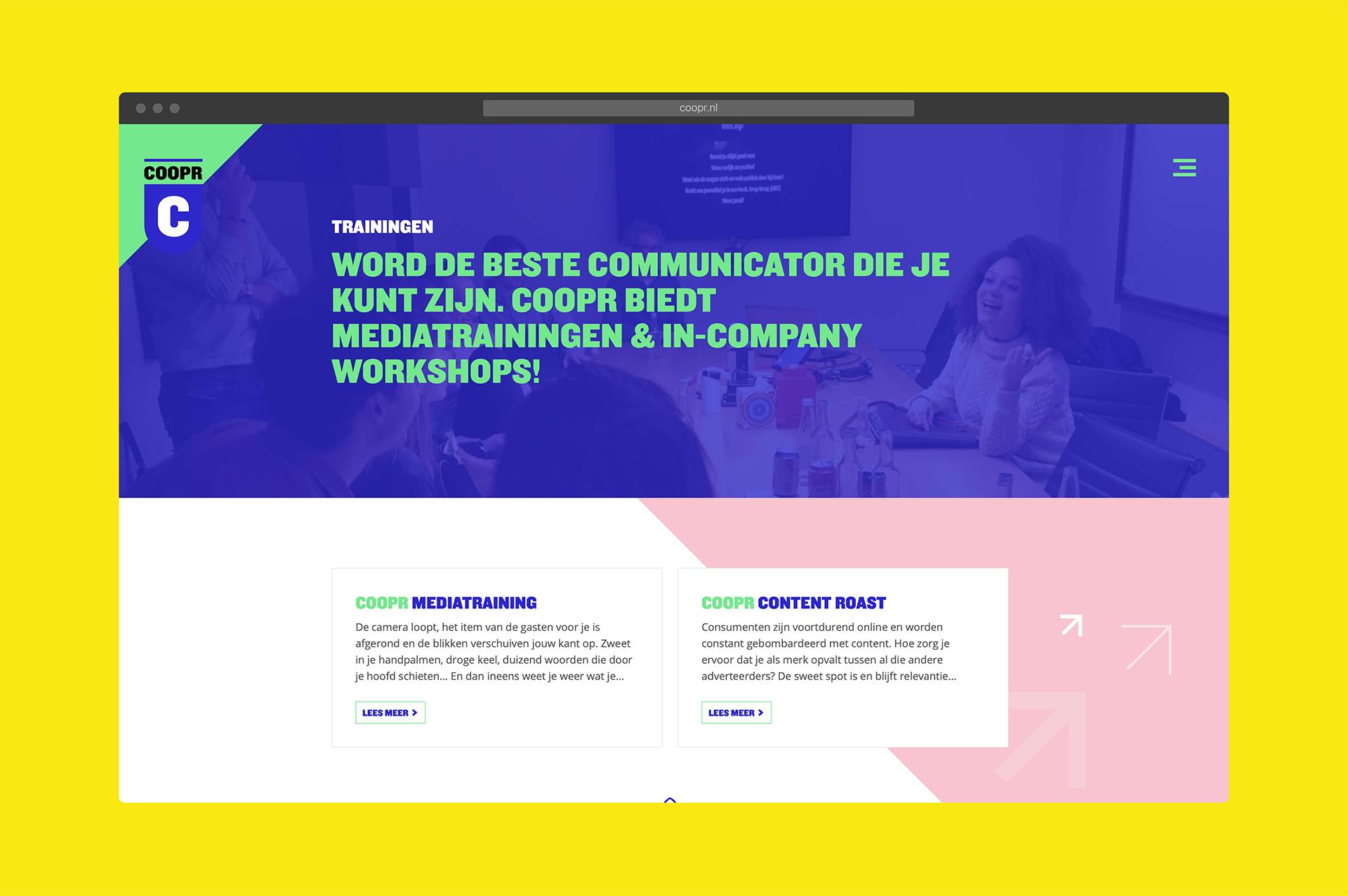 Coopr Website Desktop