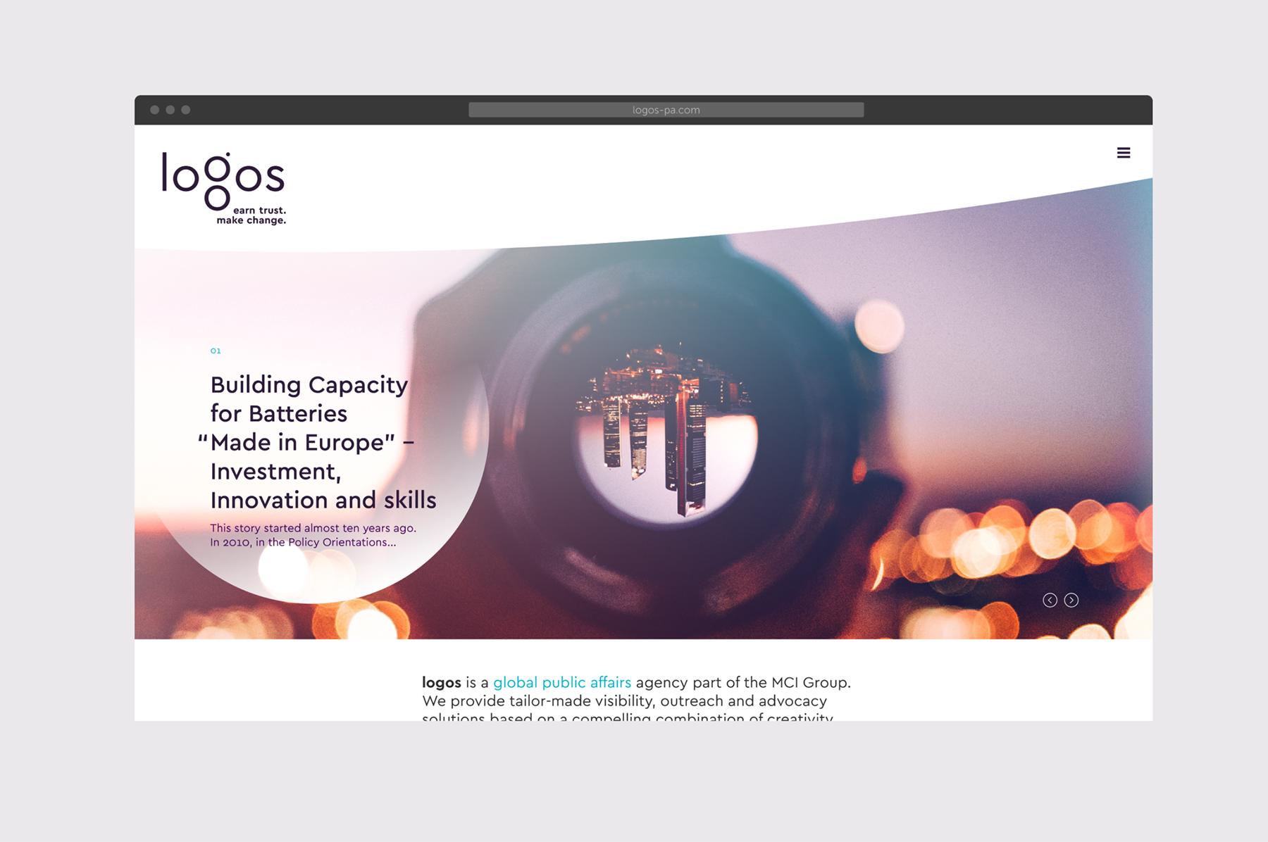 logos website desktop
